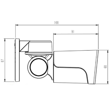 Wall Mount Product Dimensions
