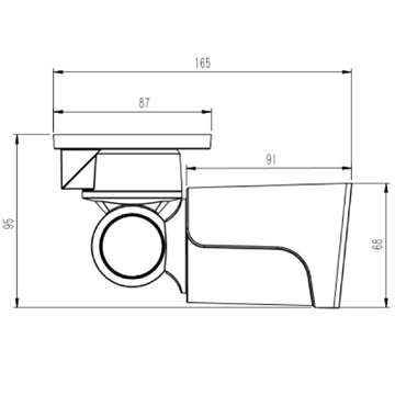 Ceiling Mount Product Dimensions